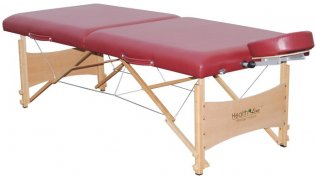 2 Section 6cm Portable Massage Table w/Aluminium-alloy Headrest