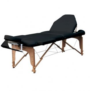 3 Section Portable Massage Table - Black Trio