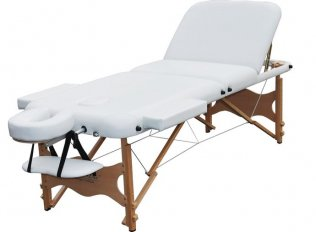 3 Section Portable Massage Table - White Trio2