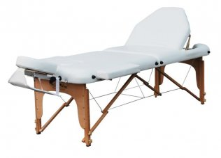 3 Section Portable Massage Table - White Trio