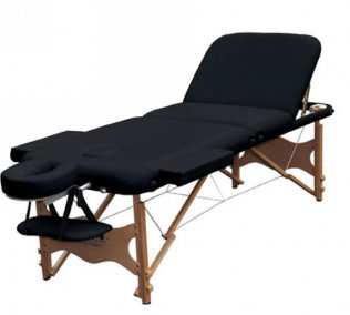 3 Section Portable Massage Table - Black Trio2