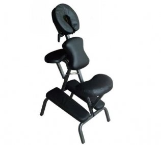 Massage Chair Black - Portable Therapy Chair