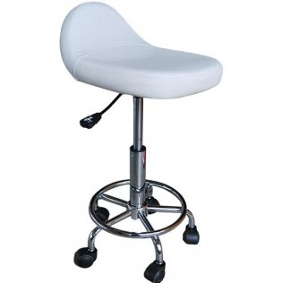 Adjustable Rolling Massge Stool - White