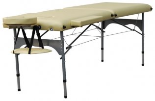 2 Section Massage Table with Aluminum Alloyed Headrest