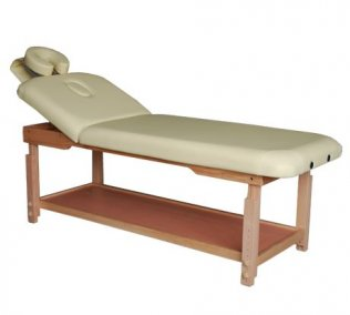 2 Section Heavy Duty Stationary Massage Table - Sand