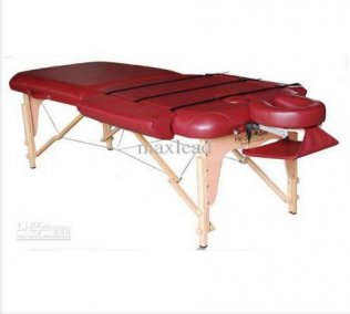 2 Section Portable Massage Table - Wine