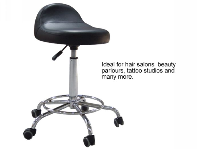 Rolling Therapist's Stool - Black