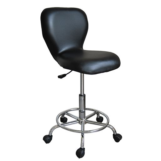 Adjustable Rolling Pneumatic Bar Stool Black  : 23m05 black from www.healthlinemassage.co.uk size 514 x 515 jpeg 16kB