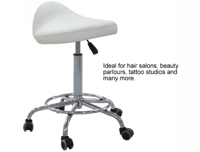 Adjustable Therapist's Saddle - White