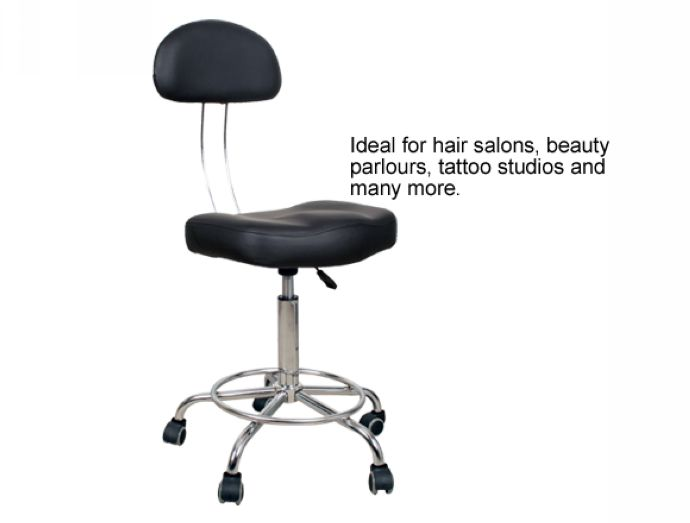 Mobile Therapist's Chair - Black