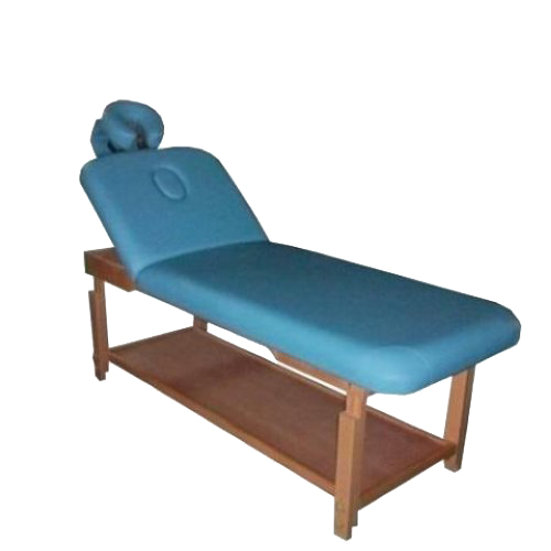 Healthline prochoice 2 section stationary massage table blue for Mobile beauty therapist table